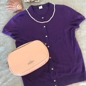 J. Crew Button Up Sweater Tee